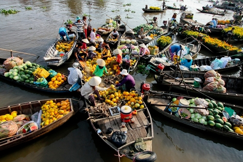 Cai Be Floating market in Tien Giang