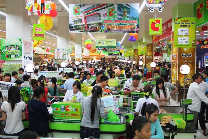 Supermarket in Vietnam