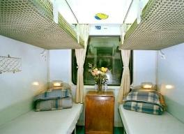 Vietnam Train 4 soft berth cabin