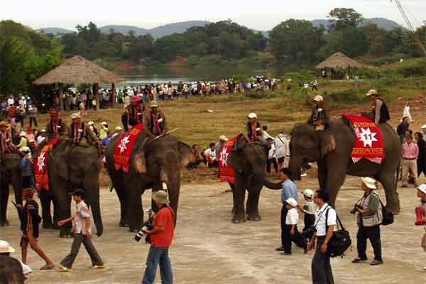 Elephant races in Buon Me Thuot