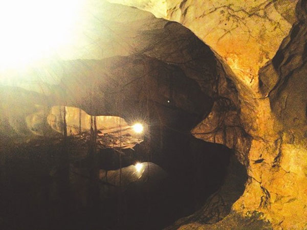 A view of the mysterious Quan Y Cave